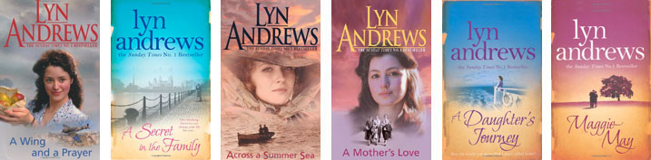 Covers of books by Lyn Andrews